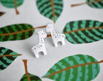 Sterling Silver Giraffe Earrings