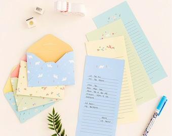 4 Sets Mini Animal Letter Paper & Envelope Sets Korean Stationery Writing Cute Kawaii