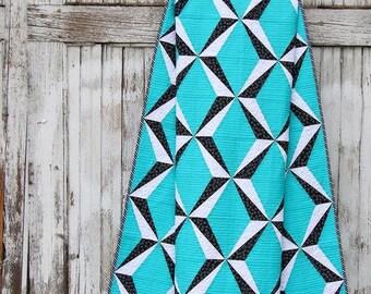 Quadrant Court quilt pattern - Sassafras Lane Designs - modern quilt pattern, paper pieced modern geometric, masculine,