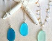 Sea Glass Necklace - Beach Glass Necklace - Sea Glass Jewelry - Mermaid Jewelry - Beach Wedding Jewelry - Beach Bridesmaid Necklace