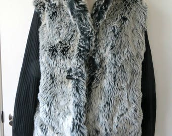 Old Montana Faux Fur Sweater Jacket Size Large