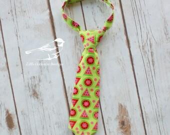 Boys watermelon tie baby tie infant tie toddler tie Newborn 0-3 Month 3-6 6-12 12-18 24 Month 2T 3T 4T 5 6 7 8 pink green photo prop