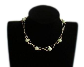 Emeralds Gold Filled Necklace, Emeralds mala,natural emeralds, gold chain, 14K gold filled, long mala, elegant necklace, mala necklace