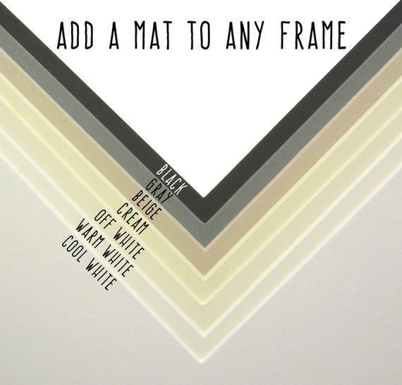 Add Matting To A Frame Add On Item Only Please Read