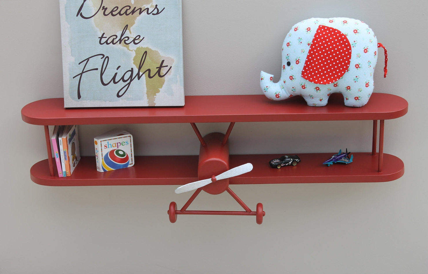 Vintage airplane decor nursery the for Nursery ornaments and decorations