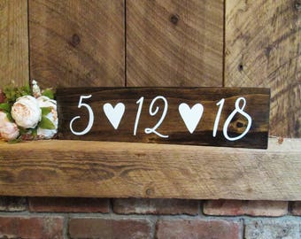 Save the date sign, save the date prop, wedding date sign, engagement sign, engagement prop, wedding gift sign, rustic wedding sign, sign