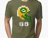 Tecmo Bowl, Tecmo Bowl Shirt, Tecmo Bowl T-shirt, Tecmo Bowl Helmet, GB Helmet, GB, Tecmo Bowl Art, Tecmo Superbowl, Video Game Football