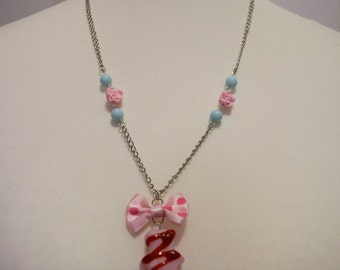 "Necklace ""Marshmallow Teddy bear"" rose"