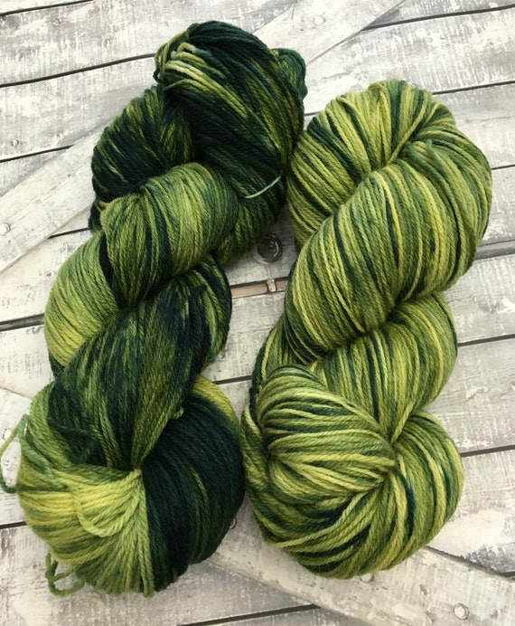 Sock Yarn  Parsley Sage Rosemary & Thyme,Hand Dyed Yarn,Indie Dyed Yarn,Fingering Weight,80/20 Superwash Merino Nylon,Toad Hollow Yarn,3 Ply