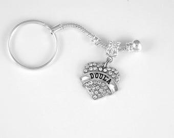 Doula Jewelry Dolua Gift Keychain Midwife Birth  Greek Childbirth Birthing Pregnancy Baby Babies Maternity  Key Chain