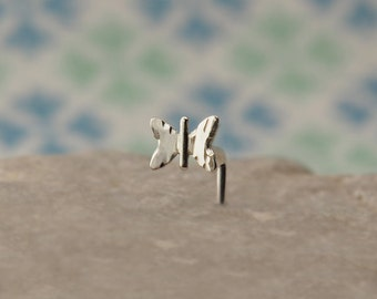 BUTTERFLY Nose Stud | customize Gauge and shape | sterling silver | nose ring piercing jewelry | 100% handcrafted | by PICOLANE