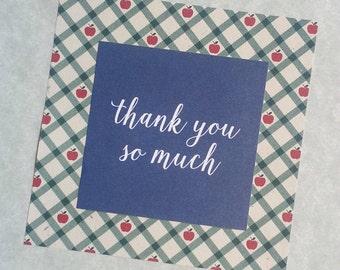 Thank You Card, teacher thank you card, blank inside