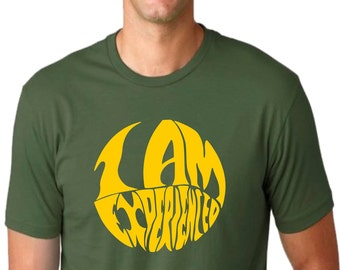 I Am Experienced T-shirt - Rock n Roll, 1960's, Hendrix, Various Sizes/Cols