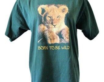 90s Vtg Born to Be Wild Lion Cub/Fits Close to: M/L