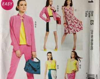 McCalls M6711 - Easy Wardrobe Collection with Jacket, Top, Dress, Skirt, and Pants - Size 14 16 18 20 22