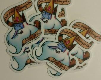 Silver Fox King stickers