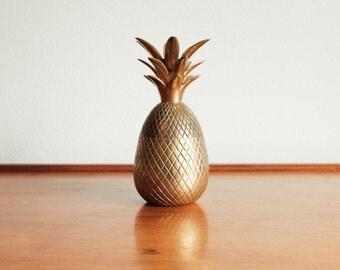 RARE Vintage Brass Pineapple Hollywood Regency