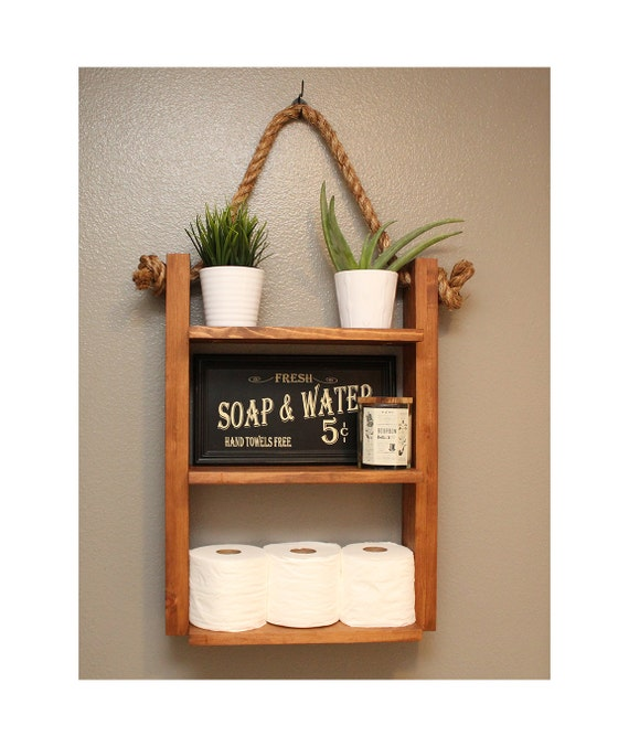 Original  Bathroom Storage Shelf Ideas Feature White Wooden Storage Ladder