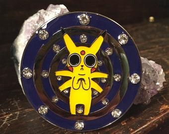 Tripping Pikachu Hat Lapel Pin Pokemon EDM Festival Rave Snapback LSD