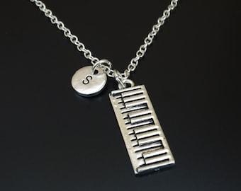 Electronic Keyboard Necklace, Keyboard Charm, Keyboard Pendant, Keyboard Jewelry, Digital Keyboard, Portable Keyboard, Musical Keyboard