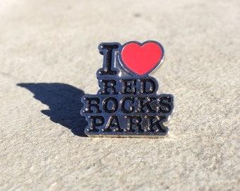 I <3 Red Rocks ~ hat pin