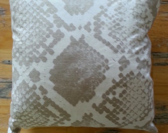 Snakeskin Linen Cushion