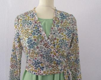 Wrap blouse, Esther ' Flowerprint