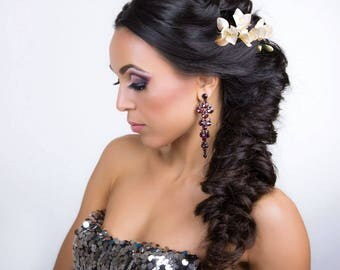 wedding flower pin ivory freesia hair accessory Wedding Head piece Hair Flower Freesia Floral Hair piece ivory flower hair pin Bridal Flower