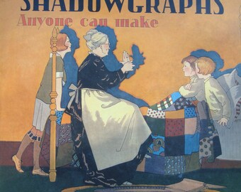 Shadowgraphs - Anyone Can Make - Children Youth Adult Instructional Hardcover Book with Dust Jacket (How to Do Hand Shadows)