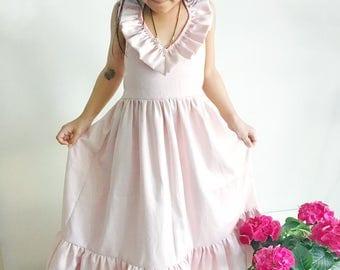 White maxi dress for girls