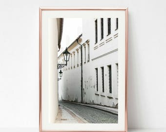 Prague Wall Art // Decor Art // Prague Print // Gallery Wall Decor // Black and White // Wall Prints // Fine Artwork // Europe Wall Art