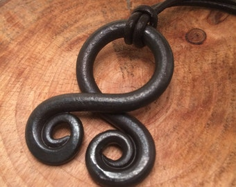 Hand Forged Troll Cross Pendant - Blacksmith Made