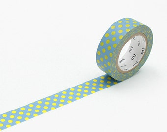 MT Washi tape Dot Aqua, MT Tape, Japanese Washi Tape, MT Washi Tape, Decorative Tape, mt Masking Tape, Washi Tape 15mm, Aqua Washi Tape