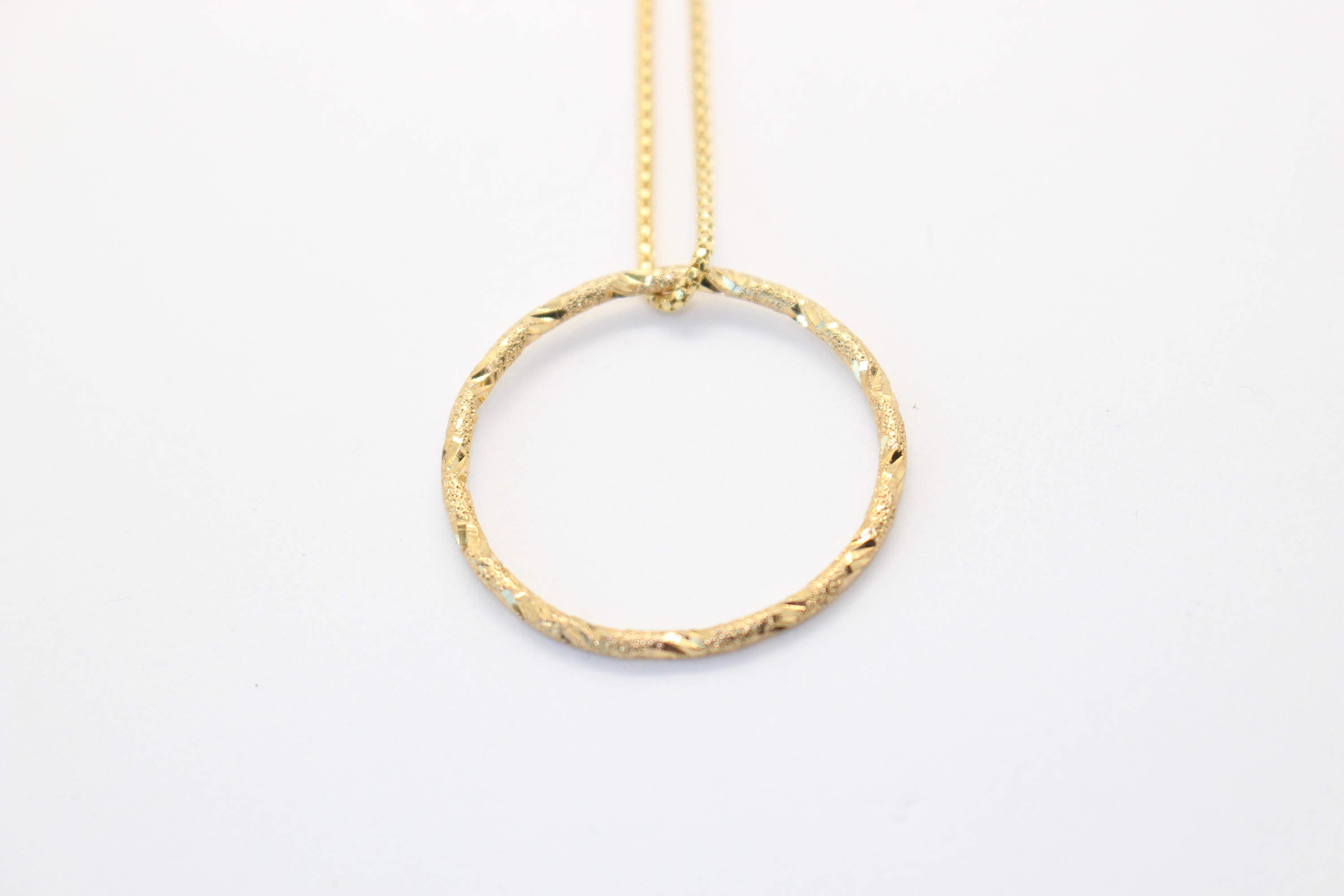 Gold circle necklace, Hoop necklace, Eternity necklace, Simple ...