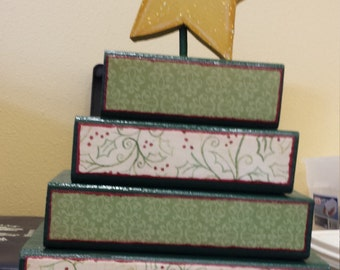 Wood Block Christmas Tree