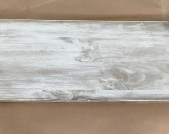Custom Weathered Sign - 12x36 - Made to Order with your Custom Quote - wedding - anniversary - birthday - rustic - whitewash - wood sign