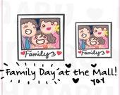 Family Time || Planner Stickers, Cute Stickers for Erin Condren (ECLP), Filofax, Kikki K, Etc. || SFS44