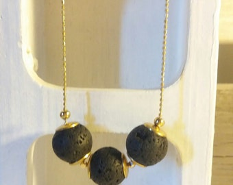 Minimalist lava necklace