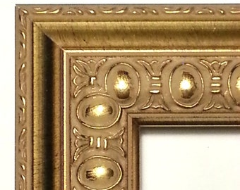 Ornate Gold Picture Frame, Antique Gold Photo Frame, Wood, 5x7, 8x10, 11x14, 16x20, 20x24, 24 x 36, 4x6 Gold Ornate Photo Frame