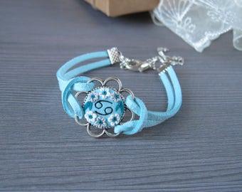 Turquoise jewelry Friend Birthday bracelet Zodiac jewelry Zodiac bracelet Astrology gift Astrology jewelry Personalized bracelet Zodiac sign