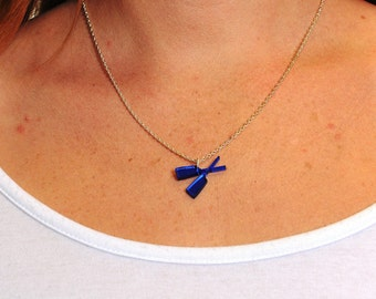 Blue Rowing Necklace