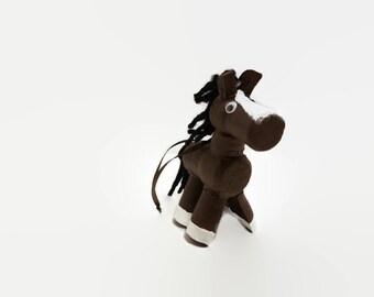 Wine Cork Horse - Horse Lover - Wine Cork Craft - Wine Charm - Horse Christmas Tree Ornament - Wine Cork Figure - Wine Lover - Bottle Charm