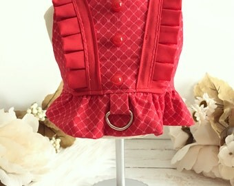 Dog harness, dog clothes, puppy dress, Dog dress, puppy clothes, Samantha Harness
