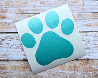 Paw Print Decal, Paw Print Sticker, Dog Decal, Dog Sticker, RTIC Decal, RTIC Sticker, Yeti Decal, Yeti Sticker, Dog Bowl Decal
