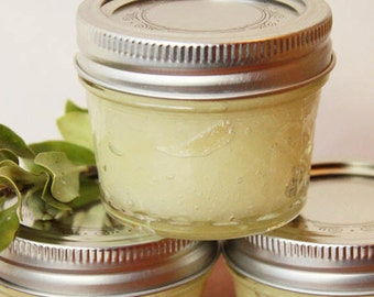 Natural Sugar Scrub, Uncented, 8OZ Jar, Sugar pollish, eExfoliant, Vegan product, Alaska Made, Great gift