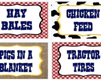 Barnyard Food Labels