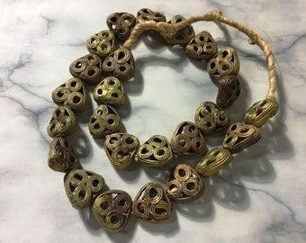 African ashanti triangle bead