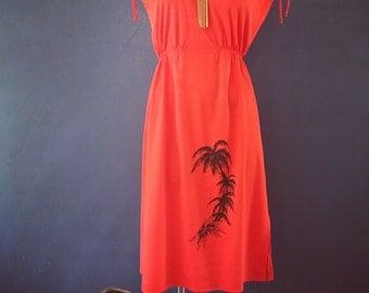 Vintage Red 70s dress