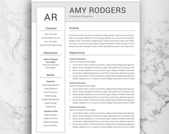 Modern Resume Template | Professional CV Template For Word | Creative And  Simple Resume Templates |
