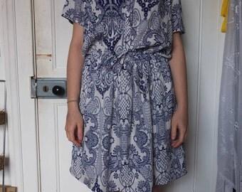 Oversized Drawstring Summer Dress